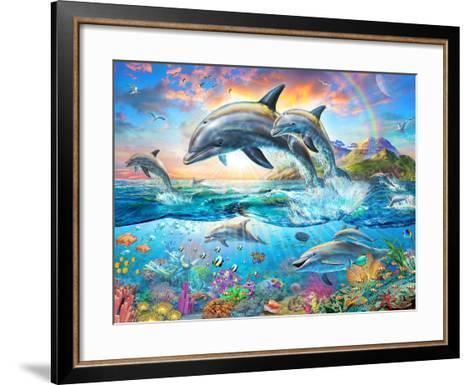 Dolphin Family-Adrian Chesterman-Framed Art Print