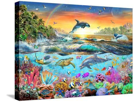 Tropical Paradise-Adrian Chesterman-Stretched Canvas Print