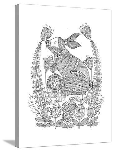 Animal Bunny 3-Neeti Goswami-Stretched Canvas Print