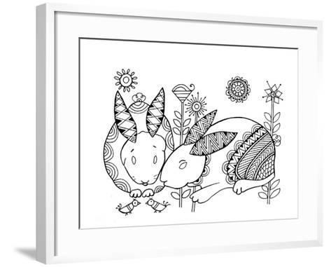 Animal Rabbits-Neeti Goswami-Framed Art Print
