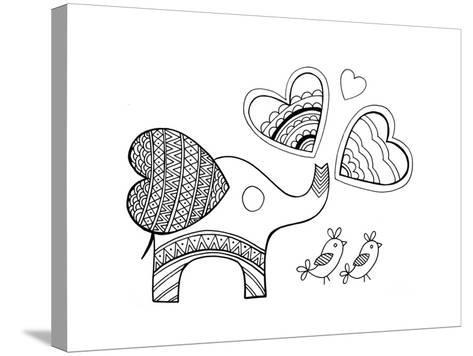 Valentine Elephant-Neeti Goswami-Stretched Canvas Print