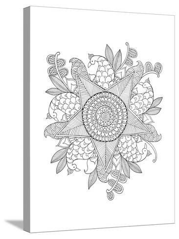 Shape Pattern 10-Neeti Goswami-Stretched Canvas Print