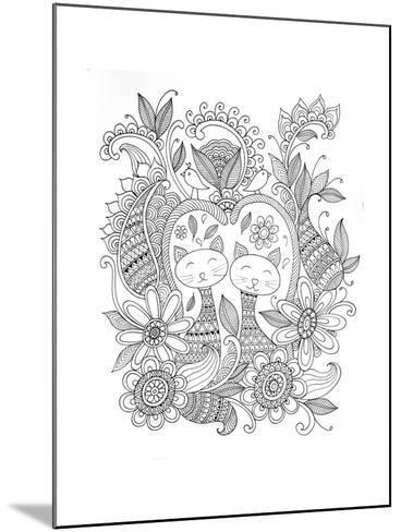 Animal Cats-Neeti Goswami-Mounted Art Print