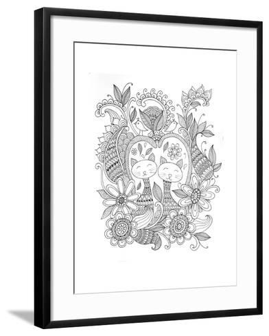 Animal Cats-Neeti Goswami-Framed Art Print