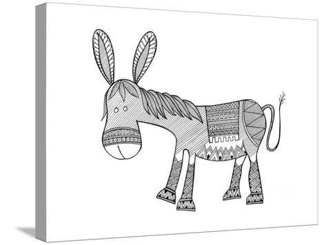 Animals Donkey-Neeti Goswami-Stretched Canvas Print