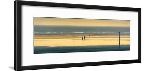 The Yellow Beach-Mark Van Crombrugge-Framed Art Print