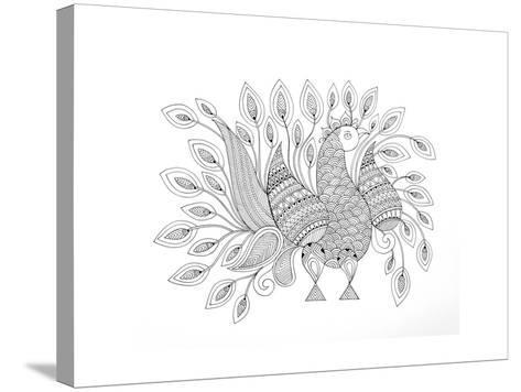 Peacock 7-Neeti Goswami-Stretched Canvas Print