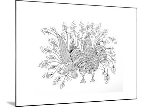 Peacock 7-Neeti Goswami-Mounted Art Print