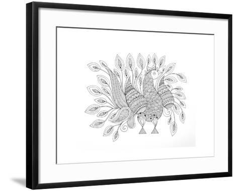 Peacock 7-Neeti Goswami-Framed Art Print
