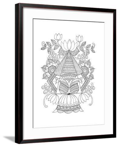 Shape Pattern 3-Neeti Goswami-Framed Art Print