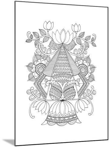 Shape Pattern 3-Neeti Goswami-Mounted Art Print