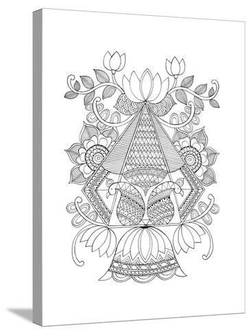 Shape Pattern 3-Neeti Goswami-Stretched Canvas Print