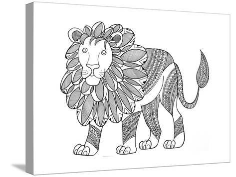 Animal Lion-Neeti Goswami-Stretched Canvas Print