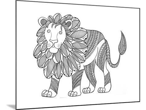 Animal Lion-Neeti Goswami-Mounted Art Print