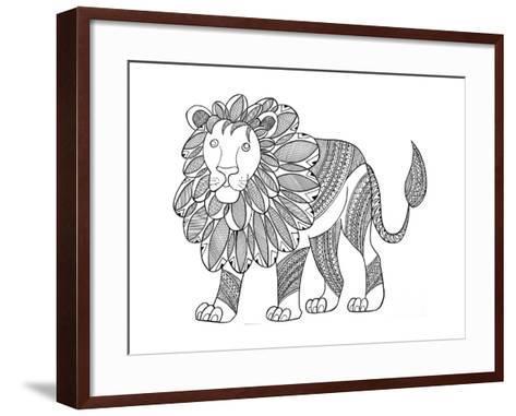 Animal Lion-Neeti Goswami-Framed Art Print