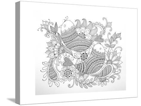 Birds-Neeti Goswami-Stretched Canvas Print