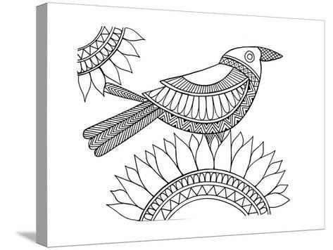 Bird Crow-Neeti Goswami-Stretched Canvas Print