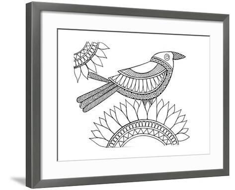 Bird Crow-Neeti Goswami-Framed Art Print
