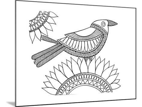 Bird Crow-Neeti Goswami-Mounted Art Print