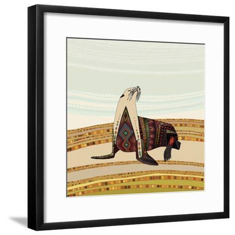 Sea Lion-Sharon Turner-Framed Art Print