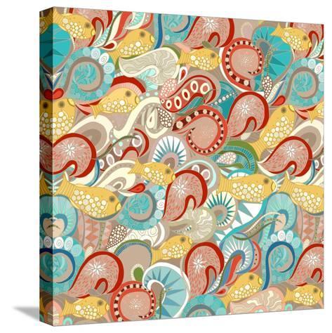 Ocean Waves-Sharon Turner-Stretched Canvas Print