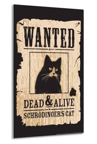 Schrodinger's Cat-Snorg-Metal Print