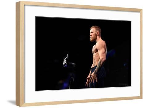 UFC 202 Weigh-In-Jeff Bottari/Zuffa LLC-Framed Art Print