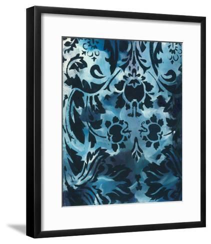 Indigo Patterns III-Arielle Adkin-Framed Art Print
