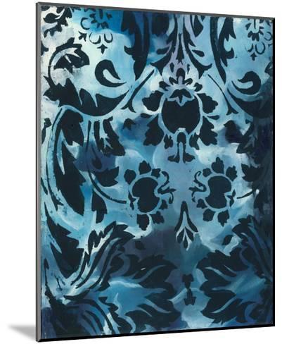Indigo Patterns III-Arielle Adkin-Mounted Art Print