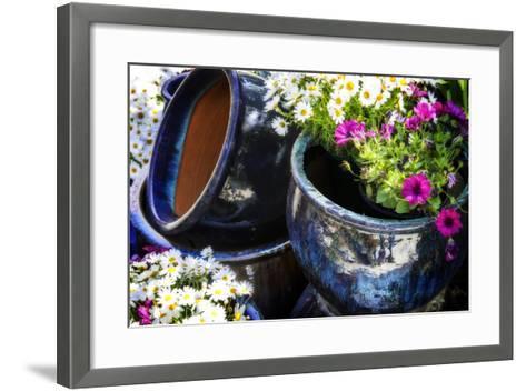 Glazed Flower Pots II-Alan Hausenflock-Framed Art Print