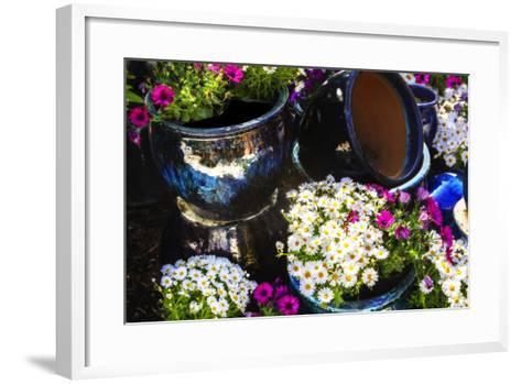 Glazed Flower Pots I-Alan Hausenflock-Framed Art Print