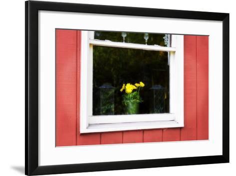 Flowers in a Window I-Alan Hausenflock-Framed Art Print