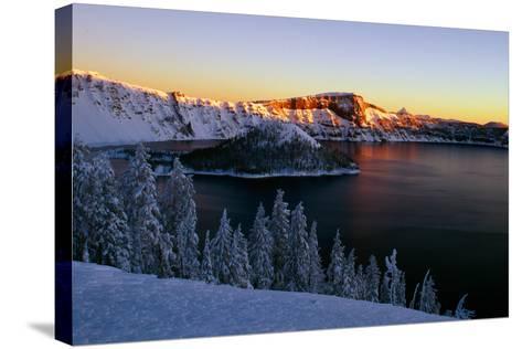 Crater Lake II-Ike Leahy-Stretched Canvas Print