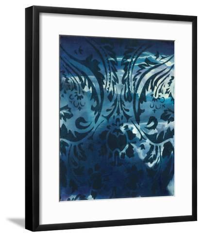 Indigo Patterns IV-Arielle Adkin-Framed Art Print