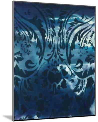 Indigo Patterns IV-Arielle Adkin-Mounted Art Print