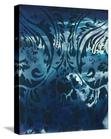 Indigo Patterns IV-Arielle Adkin-Stretched Canvas Print