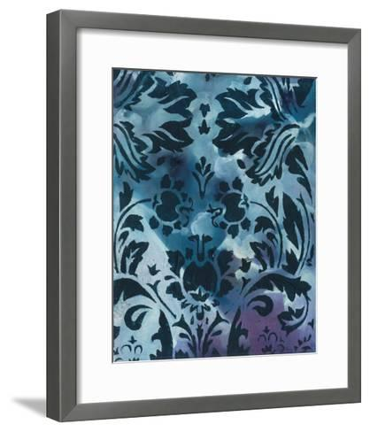 Indigo Patterns II-Arielle Adkin-Framed Art Print