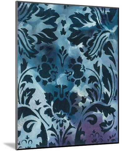 Indigo Patterns II-Arielle Adkin-Mounted Art Print