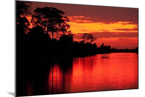 Angkor Sunset I-Erin Berzel-Mounted Photographic Print