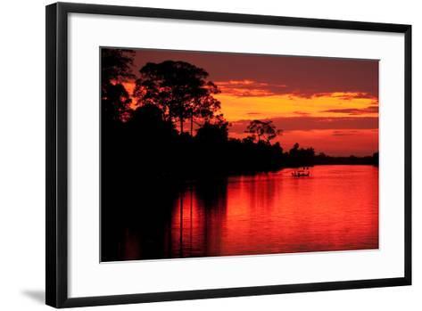 Angkor Sunset I-Erin Berzel-Framed Art Print