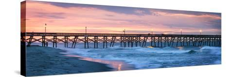 Dawn over the Pier-Alan Hausenflock-Stretched Canvas Print