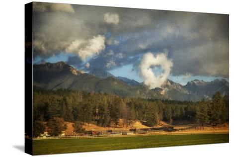 I Heart the Mountains-Roberta Murray-Stretched Canvas Print