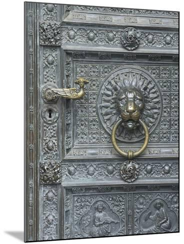 Cologne Lions Head Door-George Johnson-Mounted Photographic Print