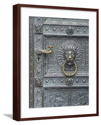 Cologne Lions Head Door-George Johnson-Framed Art Print