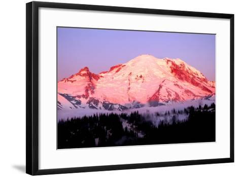 Sunrise at Mount Rainier-Douglas Taylor-Framed Art Print