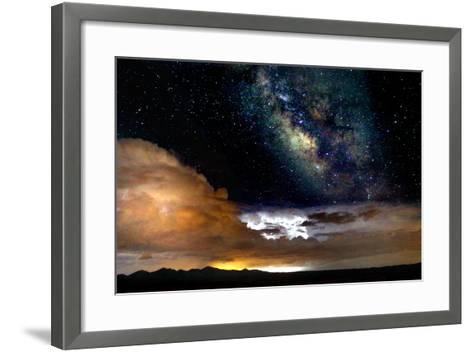 Dark Skies and Distant Storm-Douglas Taylor-Framed Art Print
