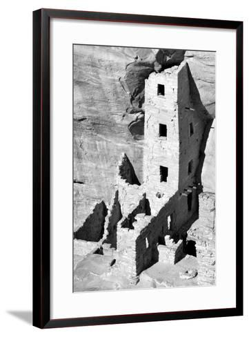 Square Tower House BW-Douglas Taylor-Framed Art Print