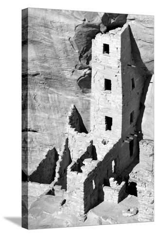 Square Tower House BW-Douglas Taylor-Stretched Canvas Print