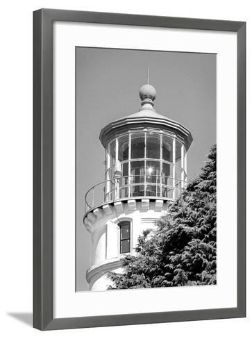 Umpqua River Lighthouse BW-Douglas Taylor-Framed Art Print