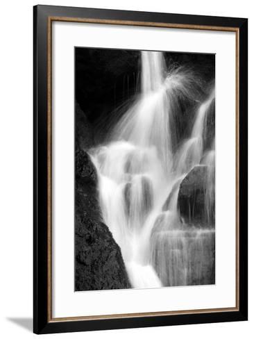 Falling Water IV BW-Douglas Taylor-Framed Art Print